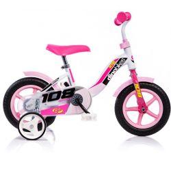 """DINO Bikes - Dětské kolo 10 """"108LG - růžový 2017"""