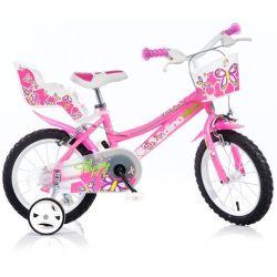 """DINO Bikes - Dětské kolo 16 """"166R - růžový 2017"""