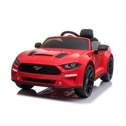 Elektrické autíčko Ford Mustang 24V, červené, Měkké EVA kola, Motory: 2 x 16 000 otáček, 24V Baterie, LED Světla, 2,4 GHz dálkové ovládání, MP3 přehrávač, ORIGINAL licence