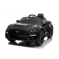 Driftovací elektrické autíčko Ford Mustang 24V, černé, Hladké Drift kolečka, Motory: 2 x 25 000 otáček, Drift režim s rychlostí 13 Km / h, 24V Baterie, LED Světla, přední EVA kola, 2,4 GHz dálkové ovládání, Měkké PU sedadlo, ORIGINAL licence