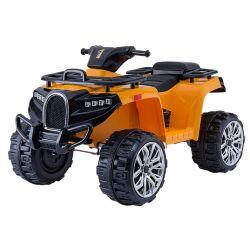 Elektrická čtyřkolka ALLROAD 12V, oranžová, měkké EVA kola, LED světla, MP3 přehrávač se vstupem USB, 2 X 12V motor, 12V7Ah baterie