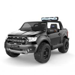 Elektrické autíčko Ford Raptor, černé, Kvalitní odpružení, LED světla, Plastový sedák, 2,4 GHz DO, klíč, 4 X MOTOR, Dvoumístné, USB, SD karta, ORIGINAL licence