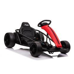 Driftovací Motokára DRIFT-CAR 24V, Červená, Hladké Drift kolečka, 2 x 350W Motor, Drift režim s rychlostí 13 Km / h, 24V Baterie, Masivní konstrukce
