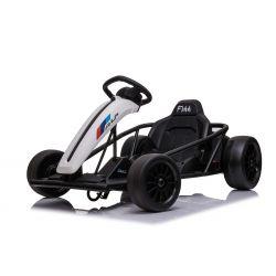 Driftovací Motokára DRIFT-CAR 24V, Bílý, Hladké Drift kolečka, 2 x 350W Motor, Drift režim s rychlostí 13 Km / h, 24V Baterie, Masivní konstrukce