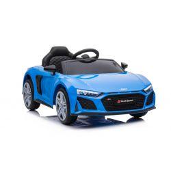 Elektrické autíčko Audi R8 Spyder nový typ, Plastové sedadlo, Plastové kola, USB / SD Vstup, Baterie 12V, 2 X 25W MOTOR, Modré, ORGINAL licence
