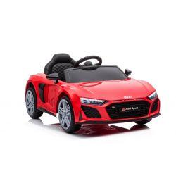 Elektrické autíčko Audi R8 Spyder nový typ, Plastové sedadlo, Plastové kola, USB / SD Vstup, Baterie 12V, 2 X 25W MOTOR, Červené, ORGINAL licence