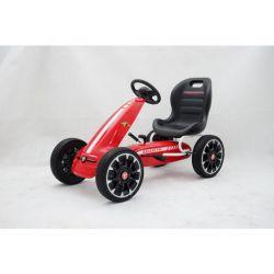 ABARTH Gokart na pedály - Šlapací motokára s volnoběhem, červená, Eva kola, ORGINAL licence