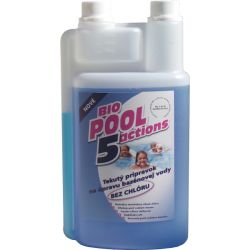 Biopool 5 Actions tekutý přípravek pro úpravu bazénové vody BEZ CHLORU