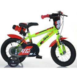 "DINO Bikes - Dětské kolo 12 ""412US - černo-červený 2017"