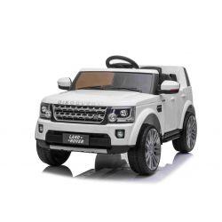 Elektrické autíčko Land Rover Discovery, 12V, 2,4 GHz dálkové ovládání, USB / AUX Vstup, odpružení, otvíravé dveře a kapota, 2 X 35W MOTOR, bílá, ORIGINAL licence