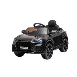 Elektrické autíčko Audi RSQ8, 12V, 2,4 GHz dálkové ovládání, USB / SD Vstup, LED světla, 12V baterie, měkké EVA kola, 2 X 35W MOTOR, černá, ORIGINÁL licence