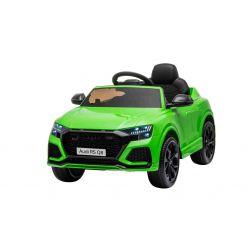 Elektrické autíčko Audi RSQ8, 12V, 2,4 GHz dálkové ovládání, USB / SD Vstup, LED světla, 12V baterie, měkké EVA kola, 2 X 35W MOTOR, zelená, ORIGINÁL licence