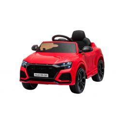 Elektrické autíčko Audi RSQ8, 12V, 2,4 GHz dálkové ovládání, USB / SD Vstup, LED světla, 12V baterie, měkké EVA kola, 2 X 35W MOTOR, červená, ORIGINÁL licence