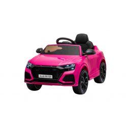 Elektrické autíčko Audi RSQ8, 12V, 2,4 GHz dálkové ovládání, USB / SD Vstup, LED světla, 12V baterie, měkké EVA kola, 2 X 35W MOTOR, růžová, ORIGINÁL licence