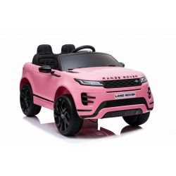 Elektrické autíčko Range Rover Evoque, Jednomístné, Růžový, Kožená sedadla, MP3 Přehrávač s přípojkou USB / SD, Pohon 4x4, Baterie 12V10AH, EVA kola, Odpružené nápravy, Klíčová třípolohové startování, 2,4 GHz Bluetooth Dálkový Ovladač, Licence