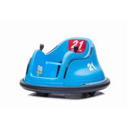 Dětské elektrické vozidlo RIRIDRIVE 12V modré, vhodné pro vnitřní i venkovní použití, 2,4 Ghz Dálkové ovládání, LED osvětlení, Ovládání Joystickem, 2 X 15W motor