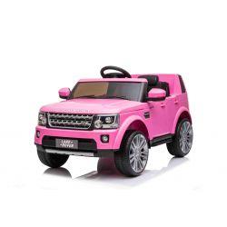 Elektrické autíčko Land Rover Discovery, 12V, 2,4 GHz dálkové ovládání, USB / AUX Vstup, odpružení, otvíravé dveře a kapota, 2 X 35W MOTOR, růžová, ORIGINAL licence