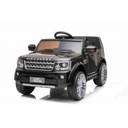 Elektrické autíčko Land Rover Discovery, 12V, 2,4 GHz dálkové ovládání, USB / AUX Vstup, odpružení, otvíravé dveře a kapota, 2 X 35W MOTOR, černá, ORIGINAL licence