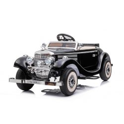 Elektrické autíčko Mercedes-Benz 540K 4x4 černé, Lokální ovládání na volantu pro dospělého, Pohon 4x4, 12V14AH Baterie, EVA kola, Čalouněné sedadlo, 2,4 GHz DO, MP3 Přehrávač, USB, Bluetooth, Originál licence