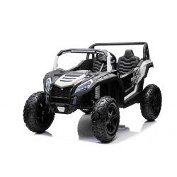 Elektrické autíčko UTV XXL 24V, bílé, dvoumístné, 180 W Motory, Nafukovací gumové kola, odpružené zadní nápravy, kotoučová brzda, čalouněné sedadlo, nastavitelný volant, bluetooth, MP3 přehrávač se vstupem USB / SD