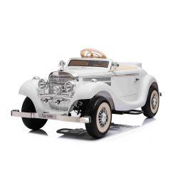 Elektrické autíčko Mercedes-Benz 540K 4x4 Bílé, Lokální ovládání na volantu pro dospělého, Pohon 4x4, 12V14AH Baterie, EVA kola, Čalouněné sedadlo, 2,4 GHz DO, MP3 Přehrávač, USB, Bluetooth, Originál licence