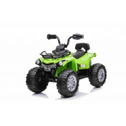 Elektrická čtyřkolka SuperPower 12V, zelené, Plastové kola s gumovým pásem, 2 x 45W Motor, plastová sedanka, odpružení, 12V7Ah baterie, MP3 přehrávač