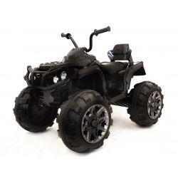 Elektrická čtyřkolka HERO 12V, měkké kola, 2,4 GHz DÁLKOVÉ OVLÁDÁNÍ, kožená sedanka, odpružené, 12V7Ah baterie