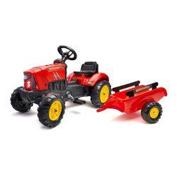 FALK Šlapací traktor 2030AB SuperCharger s vlečkou a otevírací kapotou