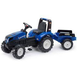 FALK Šlapací traktor 3090B New Holland T8 s vlečkou