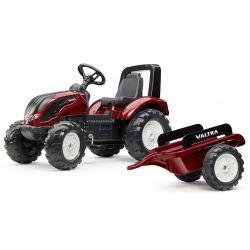 FALK Šlapací traktor 4000AB VALTRA S4 s vlečkou