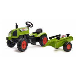 FALK Šlapací traktor 2041C Claas Arion s vlečkou a otevírací kapotou