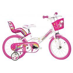 """DINO Bikes - Dětské kolo 16 """"164 RUN Jednorožec"""