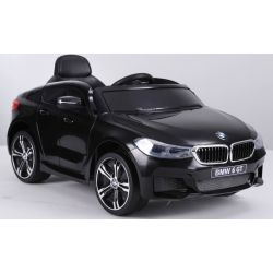 Elektrické autíčko BMW 6GT - jednomístné, černé, Baterie 2 x 6V / 4Ah, 2,4 GHz DO, 2XMOTOR, USB vstup, ORGINAL licence