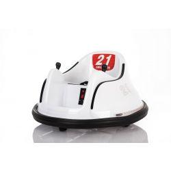 Dětské elektrické vozidlo RIRIDRIVE 12V bílé, vhodné pro vnitřní i venkovní použití, 2,4 Ghz Dálkové ovládání, LED osvětlení, Ovláadanie Joystickem, 2 X 15W motor
