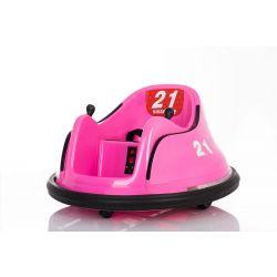 Dětské elektrické vozidlo RIRIDRIVE 12V růžové, vhodné pro vnitřní i venkovní použití, 2,4 Ghz Dálkové ovládání, LED osvětlení, Ovláadanie Joystickem, 2 X 15W motor