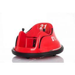 Dětské elektrické vozidlo RIRIDRIVE 12V červené, vhodné pro vnitřní i venkovní použití, 2,4 Ghz Dálkové ovládání, LED osvětlení, Ovláadanie Joystickem, 2 X 15W motor