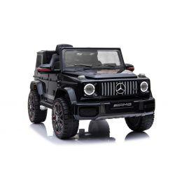 Elektrické autíčko Mercedes G, černé, jednomístné sedadlo, 12V baterie, 2,4 GHz DO, 2XMOTOR, USB, SD karta, ORGINAL licence