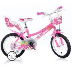 """DINO Bikes - Dětské kolo 14 """"146R - růžový 2017"""