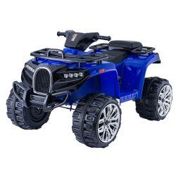 Elektrická čtyřkolka ALLROAD 12V, modrá, měkké EVA kola, LED světla, MP3 přehrávač se vstupem USB, 2 X 12V motor, 12V7Ah baterie