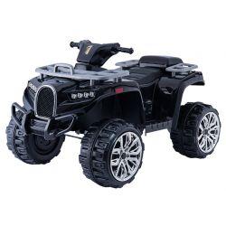 Elektrická čtyřkolka ALLROAD 12V, černá, měkké EVA kola, LED světla, MP3 přehrávač se vstupem USB, 2 X 12V motor, 12V7Ah baterie