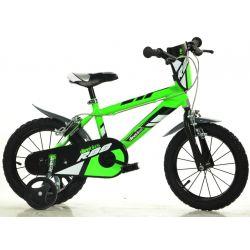 """DINO Bikes - Dětské kolo 14 """"414UZ - zelený 2017"""
