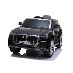 Elektrické autíčko Audi Q8, 12V, 2,4 GHz dálkové ovládání, USB / SD Vstup, LED světla, 12V baterie, měkké EVA kola, 2 X MOTOR, černé, ORIGINÁL licence