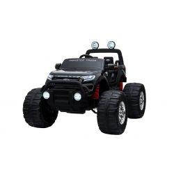 Elektrické autíčko Ford Ranger Monster Truck 4X4, černé, Dálkový ovladač 2.4Ghz, plynulý rozběh, USB / Radio / SD / MP3 vstup s Bluetooth připojením, Ukazatel kapacity baterie, Obrovské EVA kola, Odpružené, LED světla, prenostná baterie