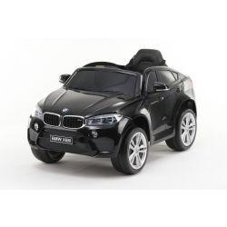 Elektrické autíčko BMW X6M NEW - jednomístné, černé, EVA kola, kožené sedadlo, 12V, 2,4 GHz DO, 2XMOTOR, USB, SD karta, ORGINAL licence
