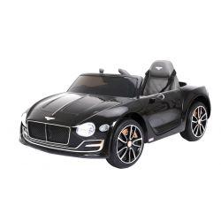 Elektrické autíčko Bentley EXP 12 Prototyp, 12V, 2,4 GHz dálkové ovládání, otvíravé dveře, EVA kola, kožené sedadlo, 2 X MOTOR, černé lakované, ORGINAL licence