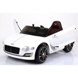 Elektrické autíčko Bentley EXP 12 Prototyp, 12V, 2,4 GHz dálkové ovládání, otvíravé dveře, EVA kola, kožené sedadlo, 2 X MOTOR, bílé, ORGINAL licence