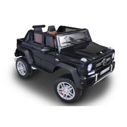 Elektrické autíčko Mercedes-Benz Maybach G650, černé,  LCD obrazovka, Pohon 4x4, 2x 12V7AH, EVA kola, Čalouněné sedadlo, 2,4 GHz DO, 4 X MOTOR, Dvoumístné