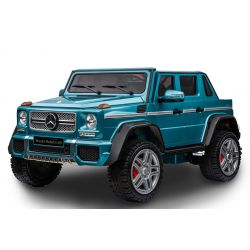 Elektrické autíčko Mercedes-Benz Maybach G650, modré Lakované, LCD obrazovka, Pohon 4x4, 2x 12V7AH, EVA kola, Čalouněné sedadlo, 2,4 GHz DO, 4 X MOTOR, Dvoumístné