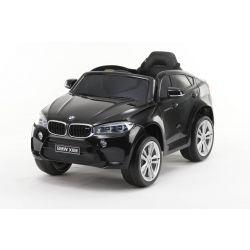 Elektrické autíčko BMW X6M NEW - jednomístné, černé lakované, EVA kola, kožené sedadlo, 12V, 2,4 GHz DO, 2XMOTOR, USB, SD karta, ORGINAL licence