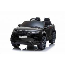 Elektrické autíčko Range Rover Evoque, Jednomístné, černé, Kožená sedadla, MP3 Přehrávač s přípojkou USB / SD, Pohon 4x4, Baterie 12V10AH, EVA kola, Odpružené nápravy, Klíčová třípolohové startování, 2,4 GHz Bluetooth Dálkový Ovladač, Licence